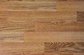 Wooden Laminate Flooring, Closeup Shot Of Home Room Floor poster