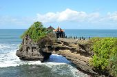 Pura Batu Bolong On The Edge Of A Cliff At Coastline With Hole In The Rock In Bali, Indonesia poster
