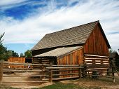 Historic Wooden Barn poster