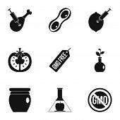 Gmo Laboratory Icon Set. Simple Set Of 9 Gmo Laboratory Icons For Web Isolated On White Background poster