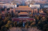 Many Building Is The City Landscape.  From The Jingshan Park. poster