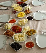 Weekend Breakfast Enjoyment. Brunch Time. Morning Breakfast. Classic Turkish Breakfast poster