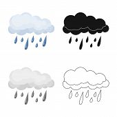 Vector Illustration Of Weather And Climate Icon. Collection Of Weather And Cloud Stock Vector Illust poster