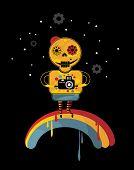 image of end rainbow  - Skeleton on the rainbow - JPG