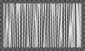 Realistic Stretched White Plastic Warp. Polyethylene Background. Vector Transparent Cellophane Mocku poster