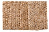 image of wasa bread  - Close up of a crispbread with sesame seeds isolated on white selective focus  - JPG