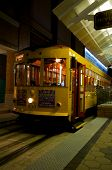 stock photo of ybor city  - Trolley waiting in a sation in Ybor City Tampa Florida USA - JPG