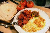 picture of indian food  - indian biryani food meal with chicken masala - JPG