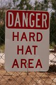 stock photo of osha  - danger sign at a construction site - JPG