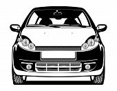 foto of midget  - black and white Vector  illustration of car - JPG