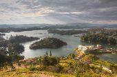 stock photo of medellin  - Barrier lake for electricity production between Penol and Guatape in Antioquia - JPG