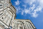 Florence Cathedral With Blue Sky And Clouds poster