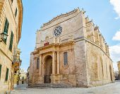 stock photo of neo-classic  - Old Santa Maria Cathedral at Ciutadella - JPG