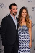 LOS ANGELES - JUL 24:  Noah Wyle, Moon Bloodgood arrives at TNT's 25th Anniversary Party at the Beve