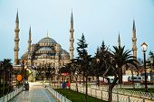 picture of early morning  - Sultan Ahmed Mosque  - JPG