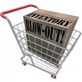 stock photo of going out business sale  - Inventory Blow - JPG