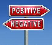 stock photo of positive negative  - positive thinking or think negative positivity or negativity is all in the mind optimistic or pessimistic look at sunny side of life is a good attitude - JPG