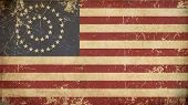 foto of civil war flags  - Illustration of an rusty grunge aged American civil war Union  - JPG
