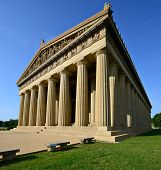 picture of parthenon  - Parthenon Replica at Centennial Park in Nashville - JPG