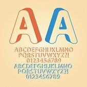 Rounded Downwards Isometric Alphabet And Digit Vector