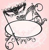 picture of venice carnival  - invitation to masquerade party  - JPG