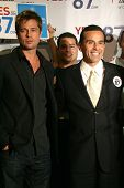 LOS ANGELES - NOVEMBER 11:  Brad Pitt and Antonio Villaraigosa at Proposition 87 Press Conference in