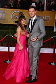Lea Michele, Cory Monteith at the 19th Annual Screen Actors Guild Awards Arrivals, Shrine Auditorium