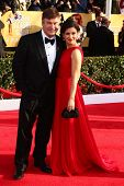 Alec Baldwin and wife Hilaria Thomas at the 19th Annual Screen Actors Guild Awards Arrivals, Shrine