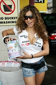 HOLLYWOOD - AUGUST 25: Angie Valle at the Adam Carolla and 97.1 KLSX Free FM Charity Car Wash to ben