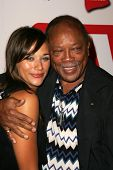 HOLLYWOOD - AUGUST 27: Rashida Jones and Quincy Jones at the TV Guide Emmy After Party August 27, 20