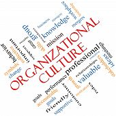 Organizational Culture Word Cloud Concept Angled