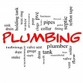 picture of nipple rings  - Plumbing Word Cloud Concept in red caps with great terms such as pipes fitting plumber and more - JPG