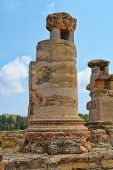 pic of libya  - Archaeological site in Africa the Agora of Cyrene in Libya - JPG