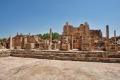 stock photo of libya  - Roman theater the ancient city of Sabratha Libya - JPG