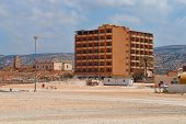 picture of libya  - Construction site for the construction of buildings in Libya - JPG