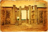 stock photo of libya  - Beautiful views of the archaeological site of Cyrene in Libya - JPG