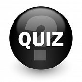 picture of quiz  - quiz black glossy internet icon - JPG
