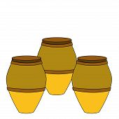 stock photo of bongo  - three colored bongos in a white background - JPG