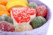 picture of testis  - Testy jelly candies in present box close up - JPG