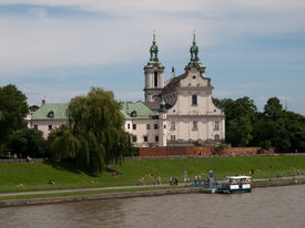 foto of stanislaus church  - Church of St Michael the Archangel and St Stanislaus Bishop and Martyr and Pauline Fathers Monastery SkalkaKrakow - JPG