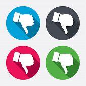 picture of dislike  - Dislike sign icon - JPG