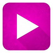 pic of christmas song  - play violet flat icon - JPG