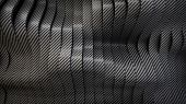 stock photo of deformed  - Carbon wavy band surface - JPG