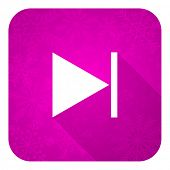 stock photo of christmas song  - next violet flat icon - JPG