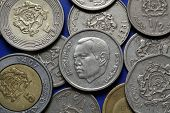 stock photo of dirhams  - Coins of Morocco - JPG