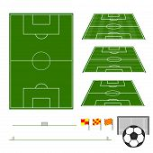 stock photo of offside  - An Illustration of Different Football Fields 1 - JPG