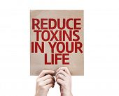 picture of reduce  - Reduce Toxins In Your Life card isolated on white background - JPG