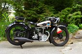picture of carburetor  - fascinating old retro vintage motorcycle shooted outdoor - JPG