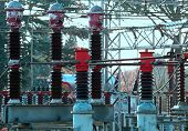 picture of breaker  - huge electrical breaker of a power plant to produce electricity - JPG