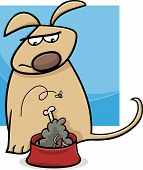 picture of nasty  - Cartoon Illustration of Funny Disgusted Dog with Bowl of Nasty Food - JPG